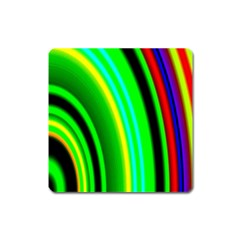 Multi Colorful Radiant Background Square Magnet