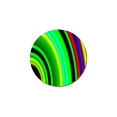 Multi Colorful Radiant Background Golf Ball Marker