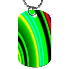 Multi Colorful Radiant Background Dog Tag (two Sides)