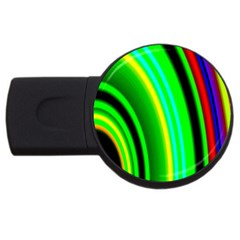 Multi Colorful Radiant Background USB Flash Drive Round (1 GB)