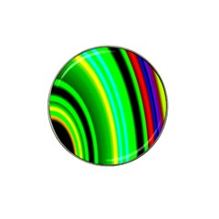 Multi Colorful Radiant Background Hat Clip Ball Marker (4 pack)