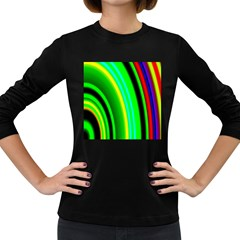 Multi Colorful Radiant Background Women s Long Sleeve Dark T-Shirts