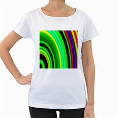 Multi Colorful Radiant Background Women s Loose Fit T Shirt (white)