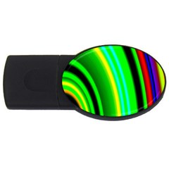 Multi Colorful Radiant Background Usb Flash Drive Oval (4 Gb)