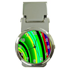 Multi Colorful Radiant Background Money Clip Watches