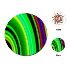 Multi Colorful Radiant Background Playing Cards (round)