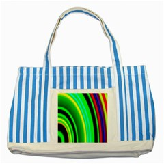 Multi Colorful Radiant Background Striped Blue Tote Bag