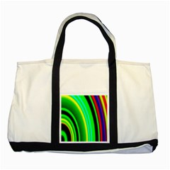 Multi Colorful Radiant Background Two Tone Tote Bag