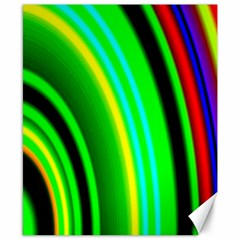Multi Colorful Radiant Background Canvas 8  x 10