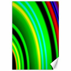 Multi Colorful Radiant Background Canvas 12  x 18