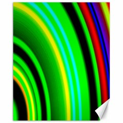 Multi Colorful Radiant Background Canvas 16  x 20