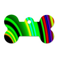 Multi Colorful Radiant Background Dog Tag Bone (two Sides)