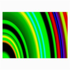 Multi Colorful Radiant Background Large Glasses Cloth (2-Side)