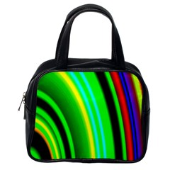 Multi Colorful Radiant Background Classic Handbags (one Side)