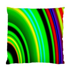 Multi Colorful Radiant Background Standard Cushion Case (One Side)