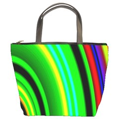 Multi Colorful Radiant Background Bucket Bags