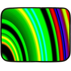 Multi Colorful Radiant Background Fleece Blanket (Mini)