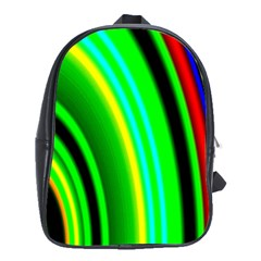 Multi Colorful Radiant Background School Bags(Large)