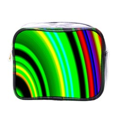 Multi Colorful Radiant Background Mini Toiletries Bags