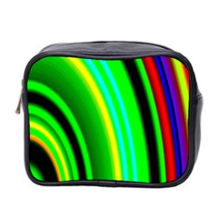 Multi Colorful Radiant Background Mini Toiletries Bag 2-Side