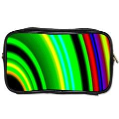 Multi Colorful Radiant Background Toiletries Bags 2-Side