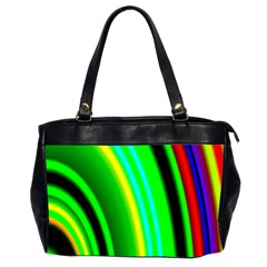 Multi Colorful Radiant Background Office Handbags (2 Sides)