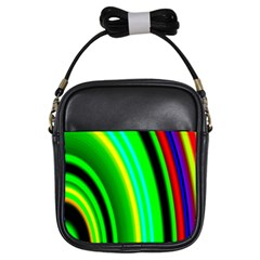 Multi Colorful Radiant Background Girls Sling Bags