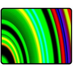 Multi Colorful Radiant Background Fleece Blanket (Medium)