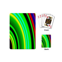 Multi Colorful Radiant Background Playing Cards (Mini)