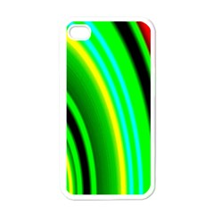 Multi Colorful Radiant Background Apple iPhone 4 Case (White)