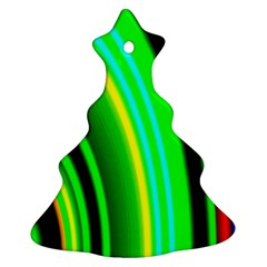 Multi Colorful Radiant Background Ornament (christmas Tree)