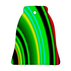 Multi Colorful Radiant Background Bell Ornament (Two Sides)