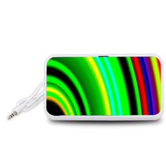 Multi Colorful Radiant Background Portable Speaker (white)