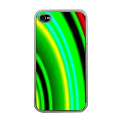 Multi Colorful Radiant Background Apple iPhone 4 Case (Clear)