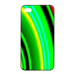 Multi Colorful Radiant Background Apple Iphone 4/4s Seamless Case (black)
