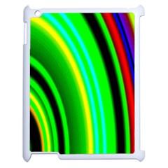 Multi Colorful Radiant Background Apple Ipad 2 Case (white)