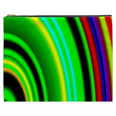 Multi Colorful Radiant Background Cosmetic Bag (XXXL)