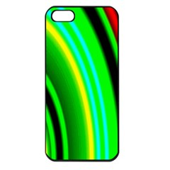 Multi Colorful Radiant Background Apple iPhone 5 Seamless Case (Black)