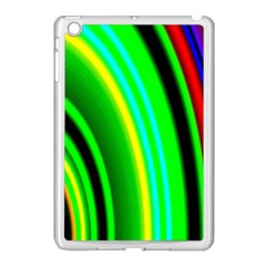 Multi Colorful Radiant Background Apple iPad Mini Case (White)