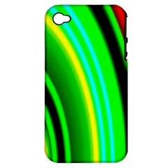 Multi Colorful Radiant Background Apple iPhone 4/4S Hardshell Case (PC+Silicone)
