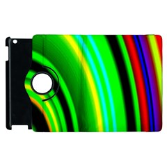 Multi Colorful Radiant Background Apple iPad 2 Flip 360 Case
