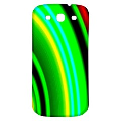 Multi Colorful Radiant Background Samsung Galaxy S3 S III Classic Hardshell Back Case