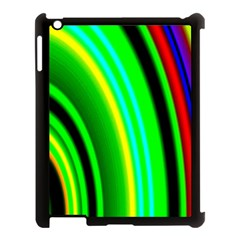 Multi Colorful Radiant Background Apple iPad 3/4 Case (Black)