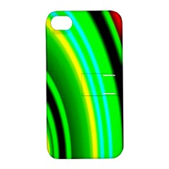 Multi Colorful Radiant Background Apple Iphone 4/4s Hardshell Case With Stand