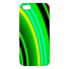 Multi Colorful Radiant Background Apple iPhone 5 Premium Hardshell Case