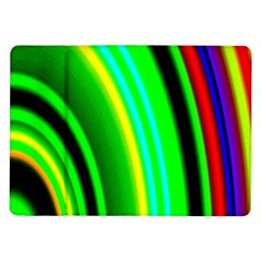 Multi Colorful Radiant Background Samsung Galaxy Tab 10.1  P7500 Flip Case