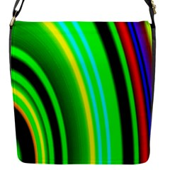 Multi Colorful Radiant Background Flap Messenger Bag (S)