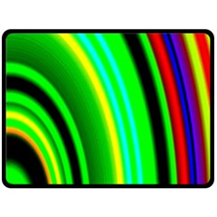 Multi Colorful Radiant Background Double Sided Fleece Blanket (Large)