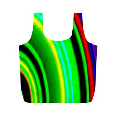 Multi Colorful Radiant Background Full Print Recycle Bags (M)