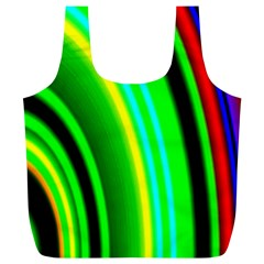 Multi Colorful Radiant Background Full Print Recycle Bags (L)